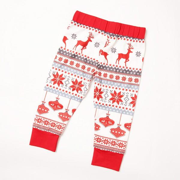 Cheerful Christmas Theme Patterned Matching Family Pajamas