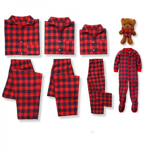 Classic Gingham Family Matching Pajamas Set