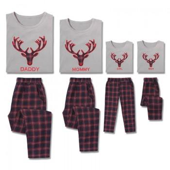 2-piece Christmas Deer Family Matching Pj's
