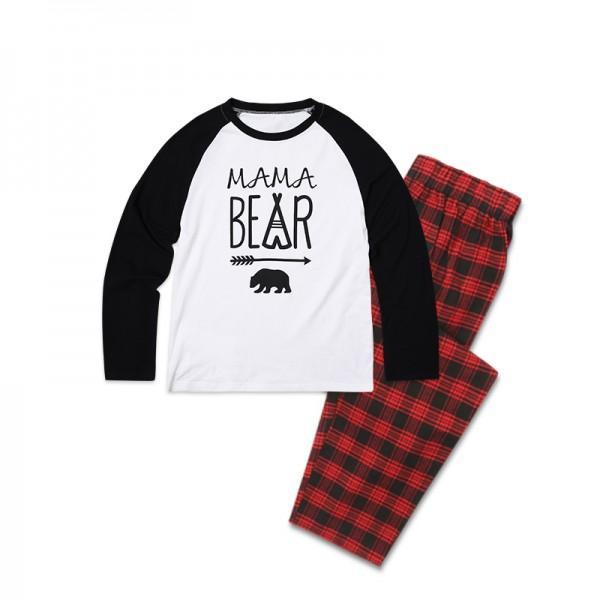 2-piece Family Bear Printed Christmas Pajamas for Family