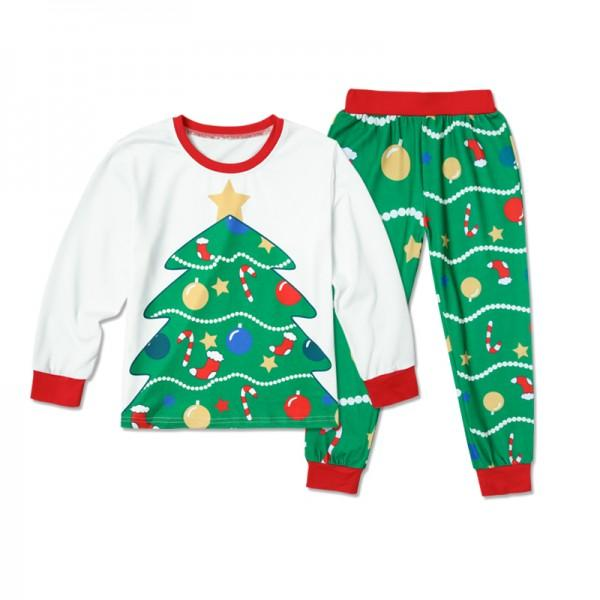 Christmas Trees Family Matching Pajamas Set in Green