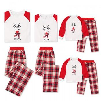 2-piece Adorable Family Reindeer Matching Pajamas Set