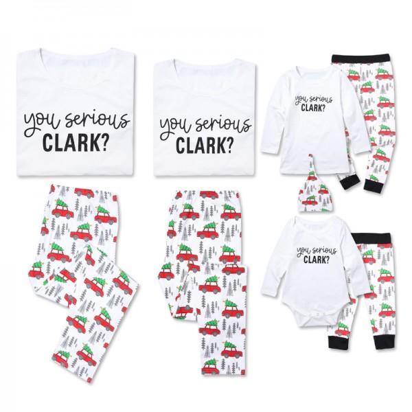 Cheerful Christmas Trees Printed Family Matching Pajamas Set