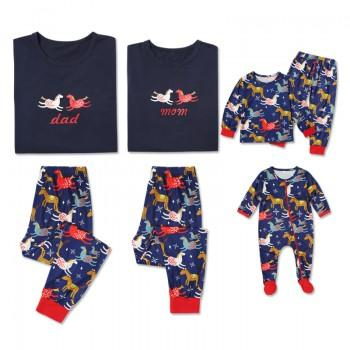 2-piece Adorable Horse Print Family Matching Pajamas Set