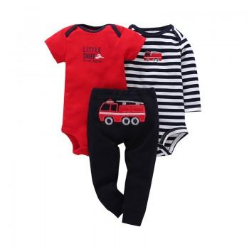 Lovely Car Print Bodysuit and Pants Set for Baby