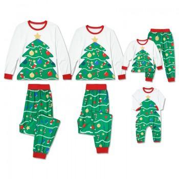 Christmas Trees Family Matching Pajamas Set in Green