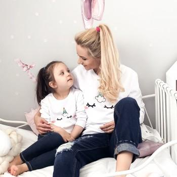 Mom and Me Sweet Unicorn Pullover in White