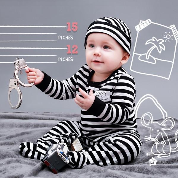 sc 1 st  PatPat & Mummy u0027s Prisoner Costume Cotton Jumpsuit for Baby