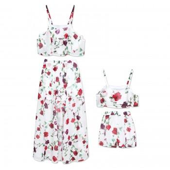 2-piece Floral Printed Set for Mommy and Me