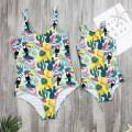 Tropical Printed One-piece Swimsuit for Mom and Me