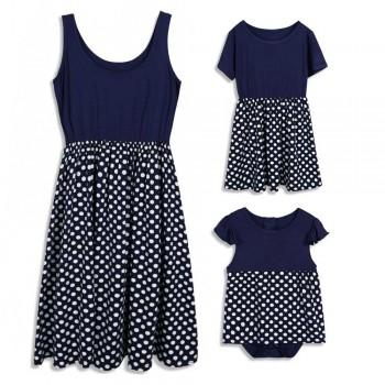 Mommy and Me Classic Polka dots Summer Dress