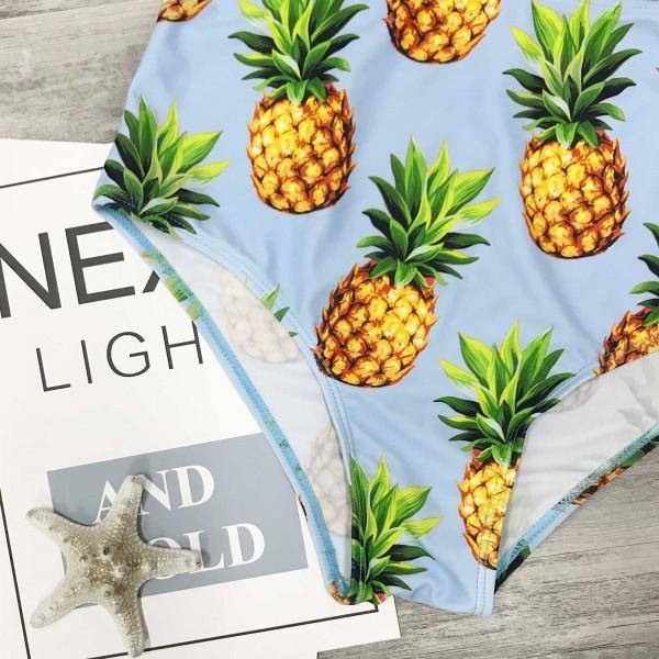 Mom and Me Two-piece Pineapple Printed Bikini Set