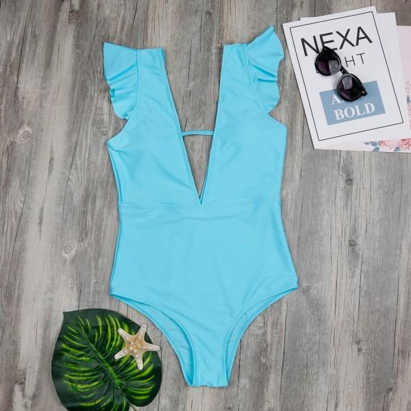 Mom and Me Cute Ruffles One-piece Swimsuit