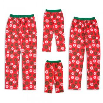 Family Matching Snowflake Pattern Red Pajama Pants