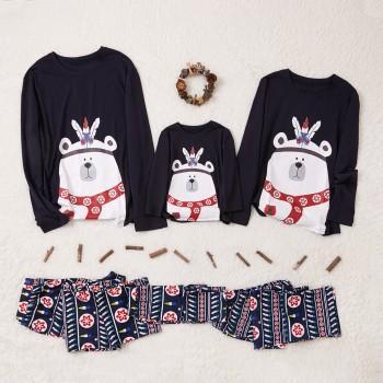 Cute Polar Bear Family Matching Christmas Pajamas
