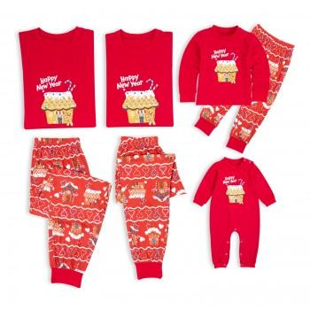Gingerbread Man Print Happy New Year Matching Pajamas