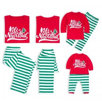 Christmas Family Matching Letter Printed Pajamas in Red