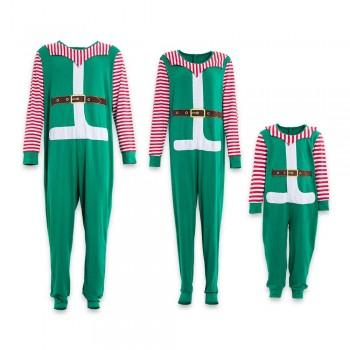 One-piece Santa Christmas Family Matching Pajamas in Green