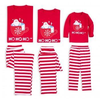 Funny Bathing Santa Print Matching Christmas Pajamas