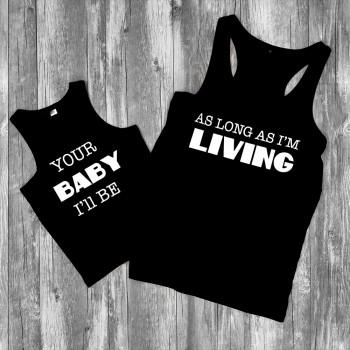Mommy and Me Graphic Tank Top in Black