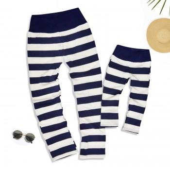Comfy Stripes Cotton Yoga Pants for Mammy and Me