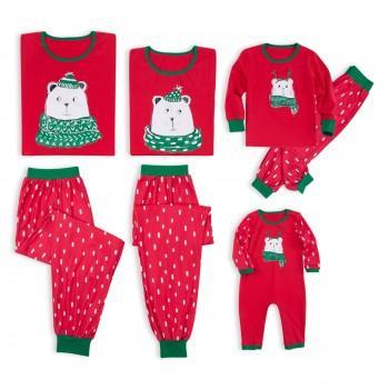 Christmas Family Bear Printed Matching Pajamas