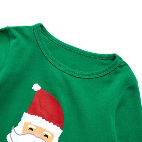 Happy Santa Print Christmas Family Matching Pajamas