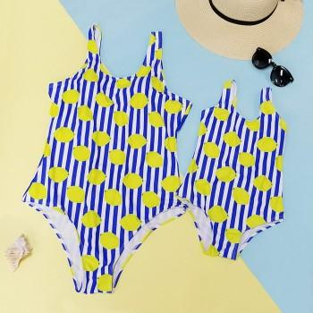 Mommy and Me 2-piece Stripes Lemon One-piece Swimsuit