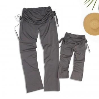 Comfy Solid Cotton Yoga Pants for Mommy and Me