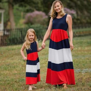 Bold Striped Sleeveless Mom & Me Dress(Price Varied by Size)