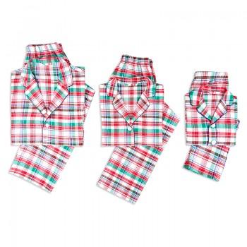 Festive Plaid Family Matching Pajamas Set