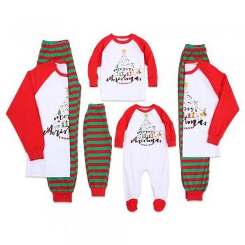 jolly christmas tree print family pajamas