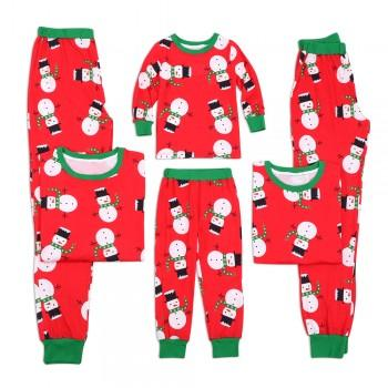 Snowman Pattern Christmas Matching Pajamas