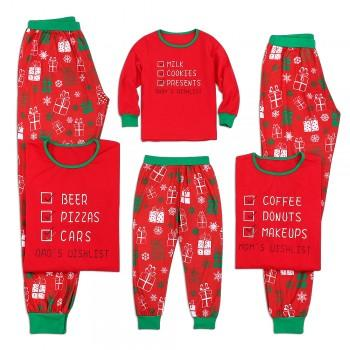 Christmas Wishlist Family Matching Pajamas