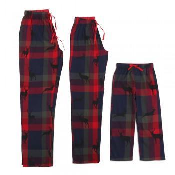 Deer Silhouette Classic Christmas Pajama Pants