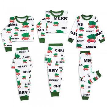 Merry Christmas Car Pattern Family Matching Pajamas