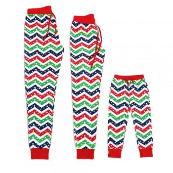 Bright Polka Dots Striped Matching Pajama Pants