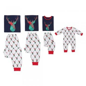 Lovely Deer Print Christmas Matching Pajamas