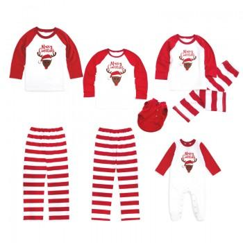 Merry Christmas Deer Stripes Family Matching Pajamas