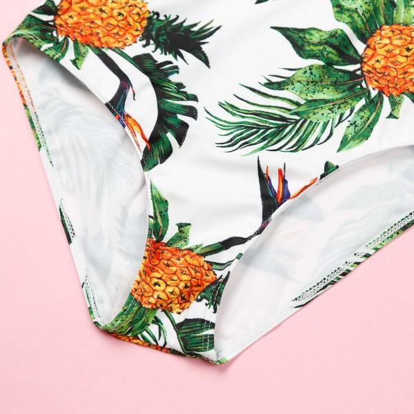 Allover Tropical Pineapple Printed Family Matching Swimwear