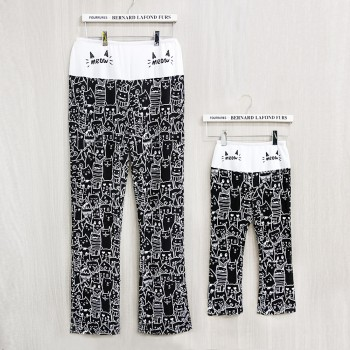 Allover Cat Print Mommy and Me Matching Yoga Pants