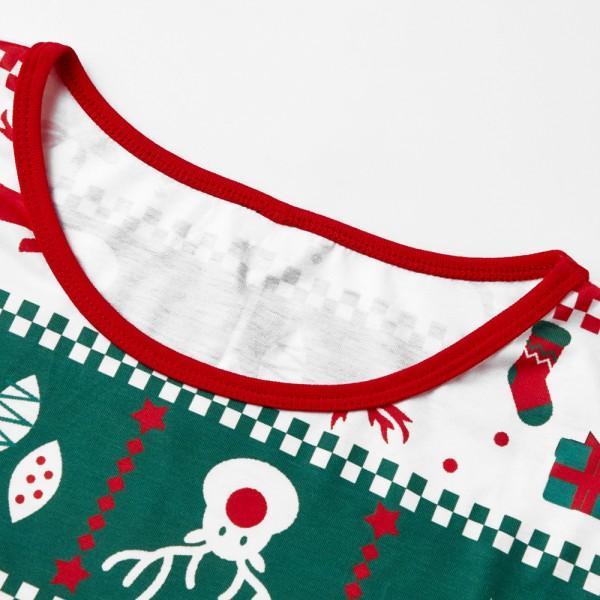 Joyful Red and Green Christmas Pajamas for Family