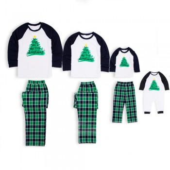 joy christmas tree plaid holiday pajamas in green - Cheap Family Christmas Pajamas