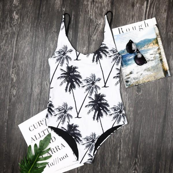 Breezy Coconut Tree Printed Charm Family Matching Swimsuit