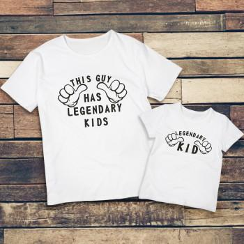 Legendary Kid Letter Print Matching Tee for Daddy and Me