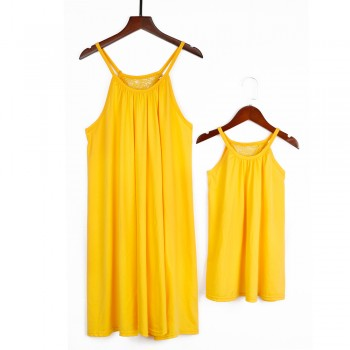 Mommy and Me Summer Yellow Charm Dress Matching Look