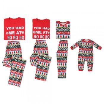Christmas Stripes Hohoho Family Pajamas