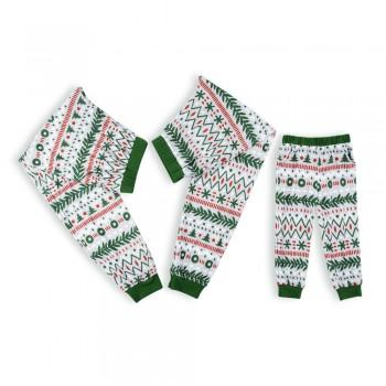 Family Matching Green Christmas Pajama Pants