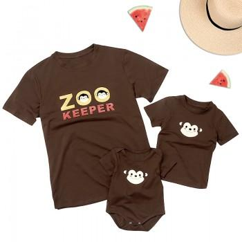 Daddy and Me Monkey Printed Matching Top