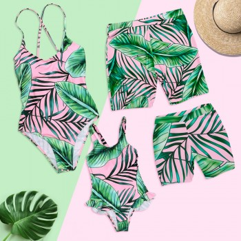 Breezy Leaves Charm Family Matching Swimsuit